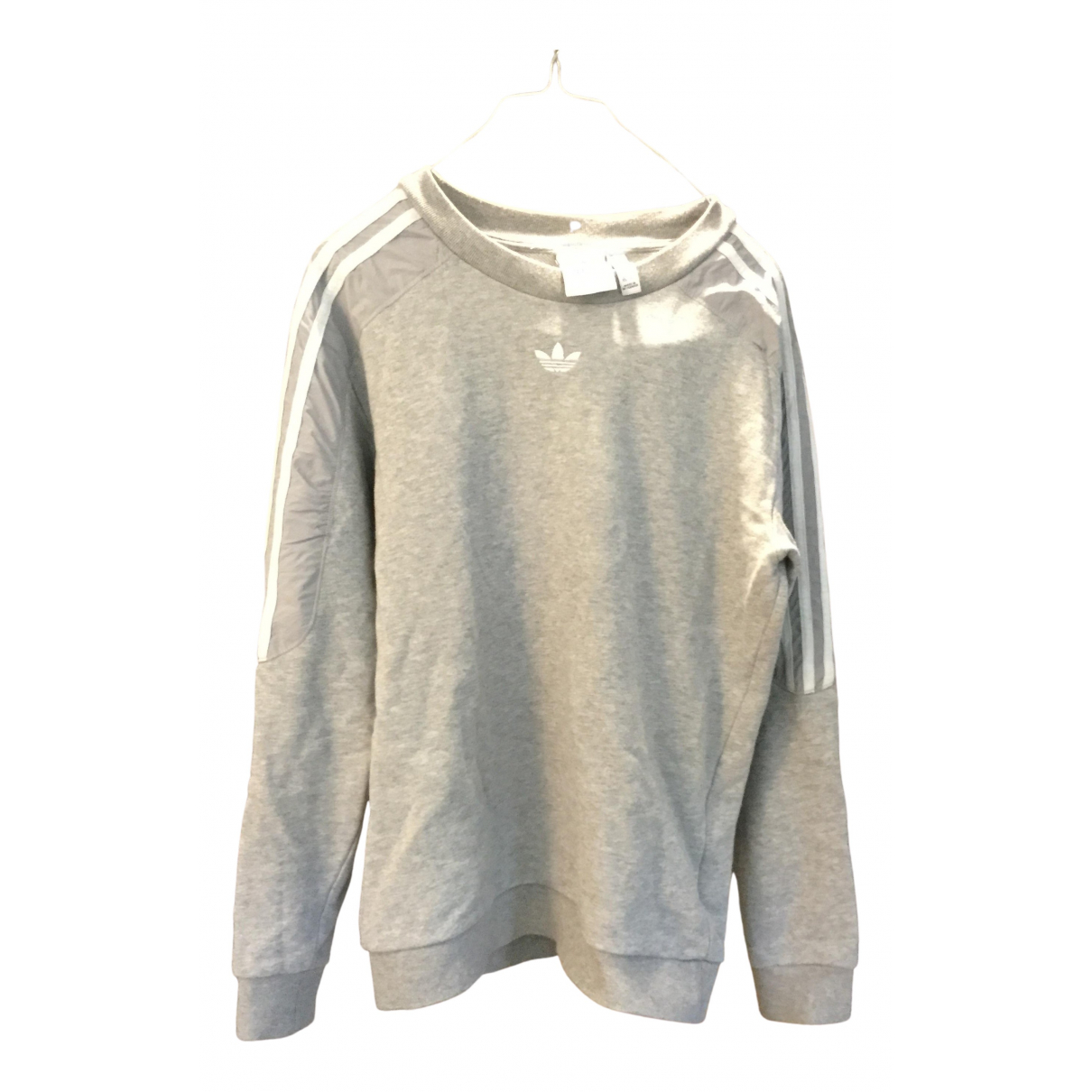 Adidas N Grey Cotton Knitwear & Sweatshirts for Men XS International