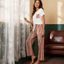 Sets Pijama Lazo Tartan Casual