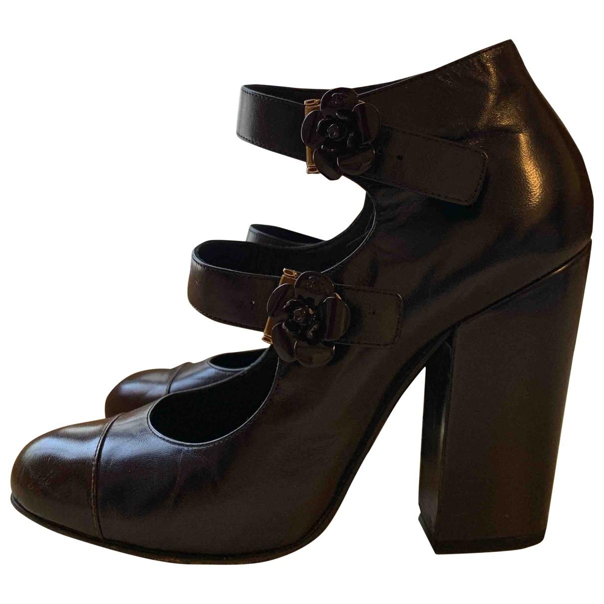Chanel \N Blue Leather Heels for Women 39 EU