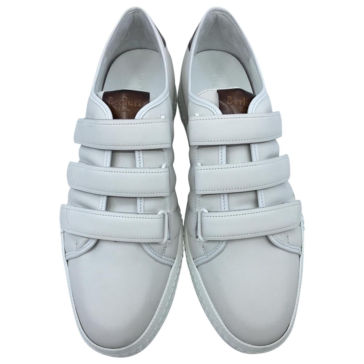 Berluti - Baskets   pour homme en cuir - blanc