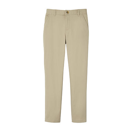 French Toast Little & Big Boys Straight Fit Chino Pant, 4 , Beige