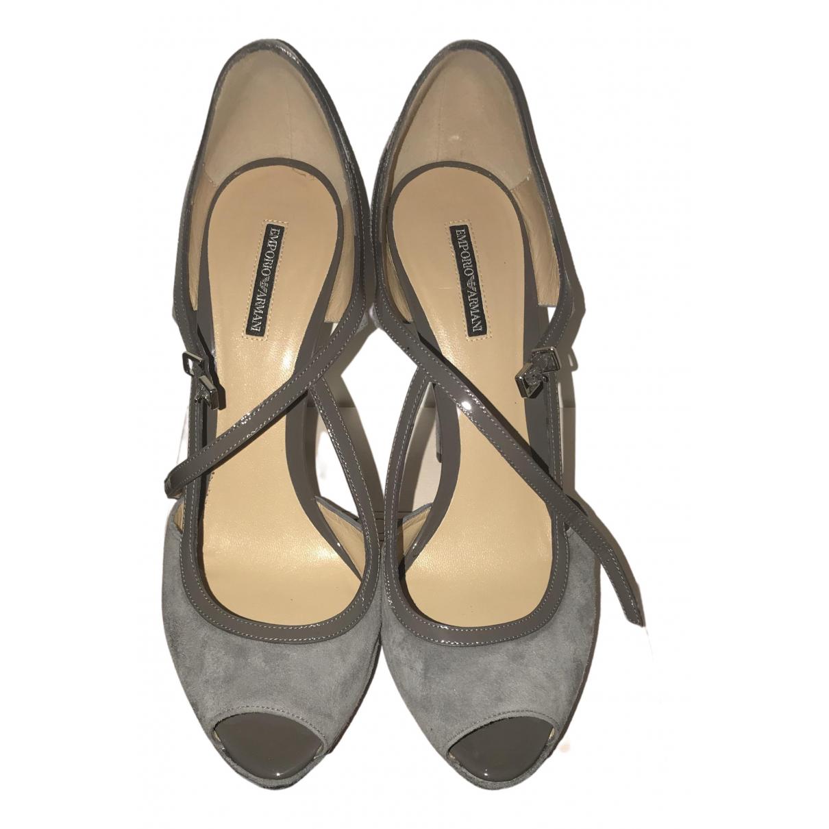 Emporio Armani - Escarpins   pour femme en suede - gris