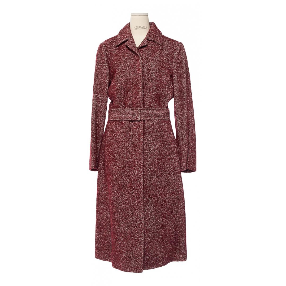 Dries Van Noten - Manteau   pour femme en laine - rouge