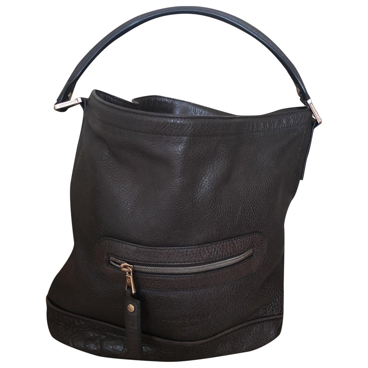 Longchamp N Brown Leather handbag for Women N