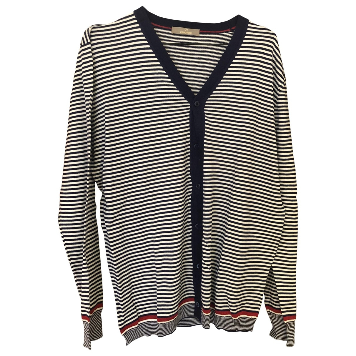 Cruciani \N Pullover.Westen.Sweatshirts  in  Weiss Baumwolle