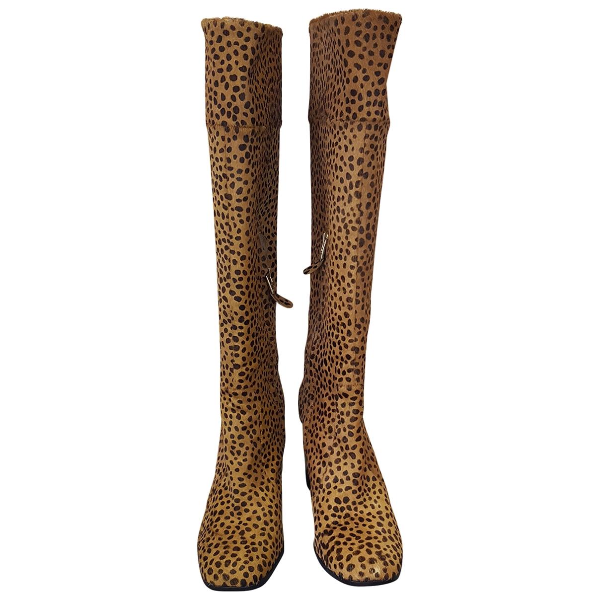 Diane Von Furstenberg \N Brown Pony-style calfskin Boots for Women 39.5 EU