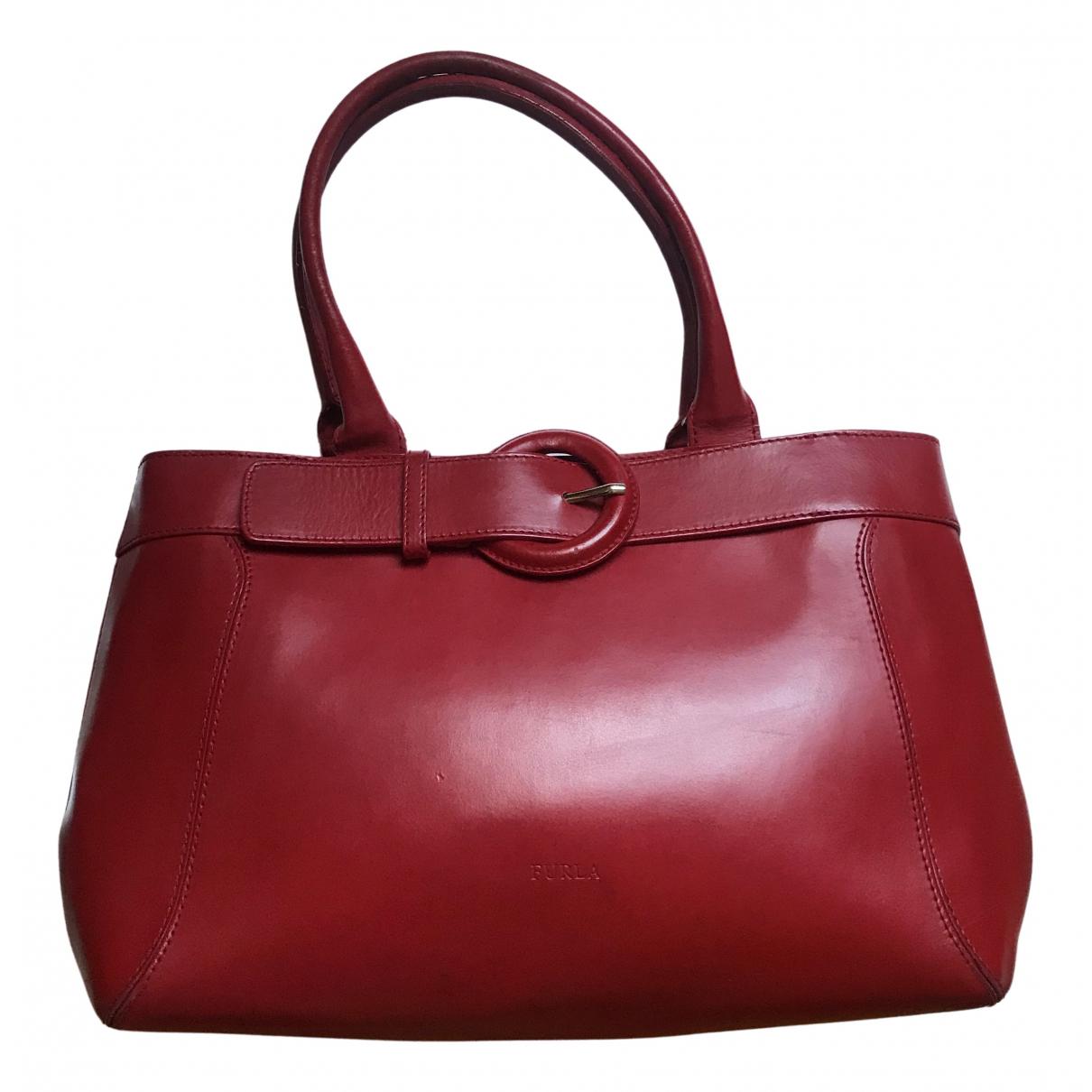 Furla N Red Leather handbag for Women N