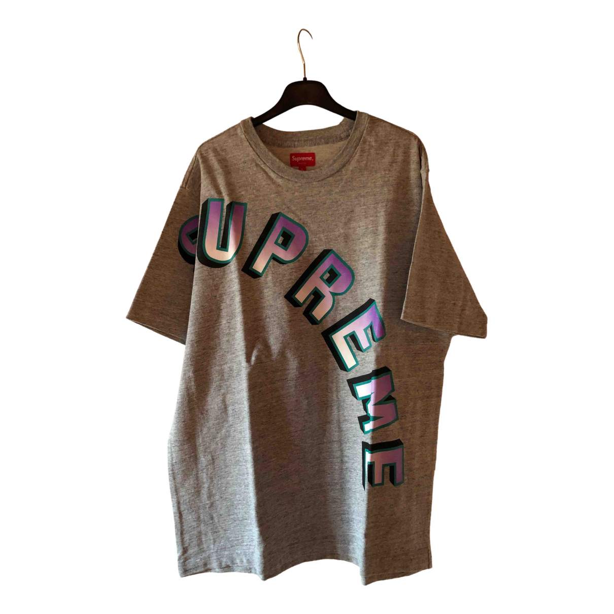 Supreme N Grey Cotton T-shirts for Men L International