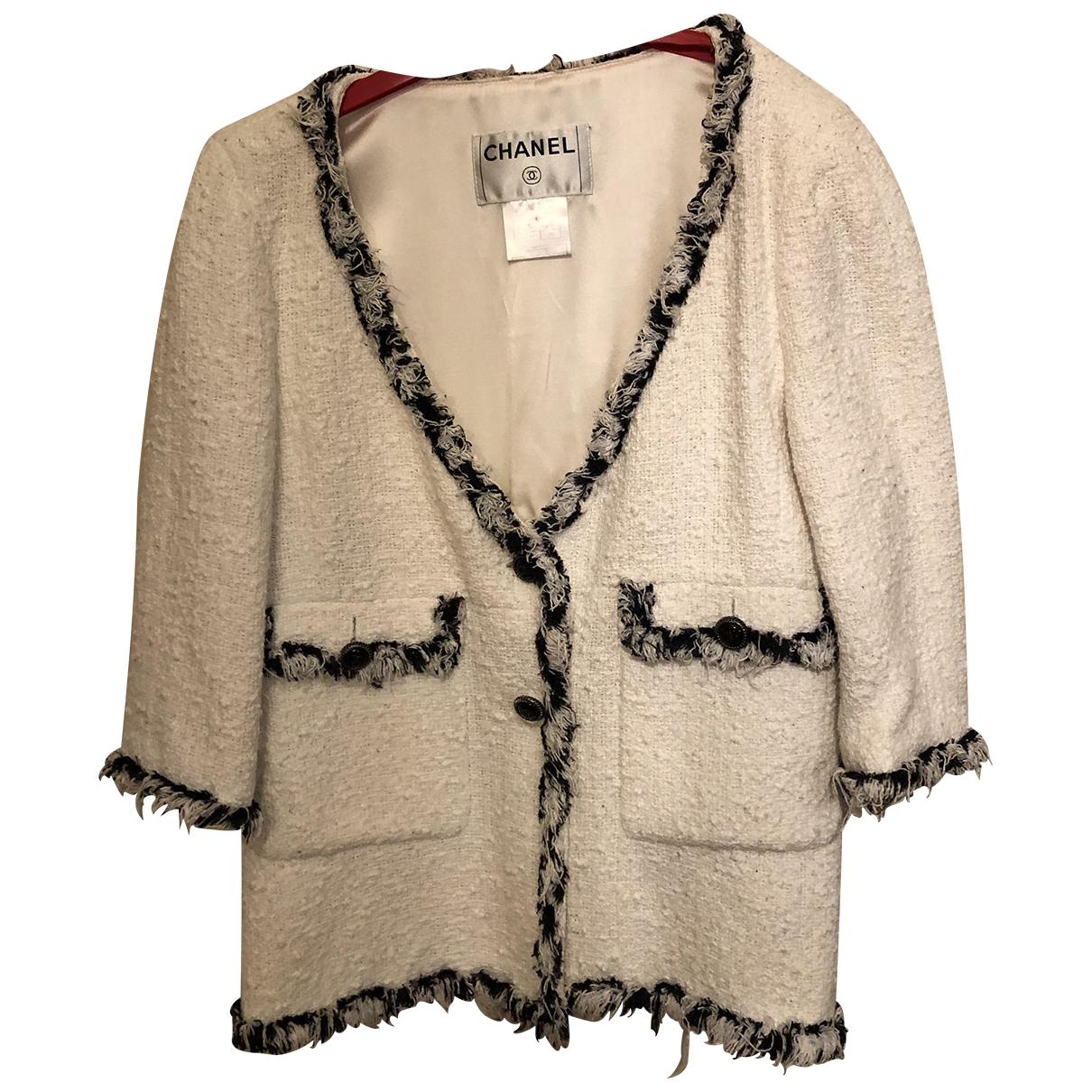 Chanel \N Beige Tweed jacket for Women 38 FR
