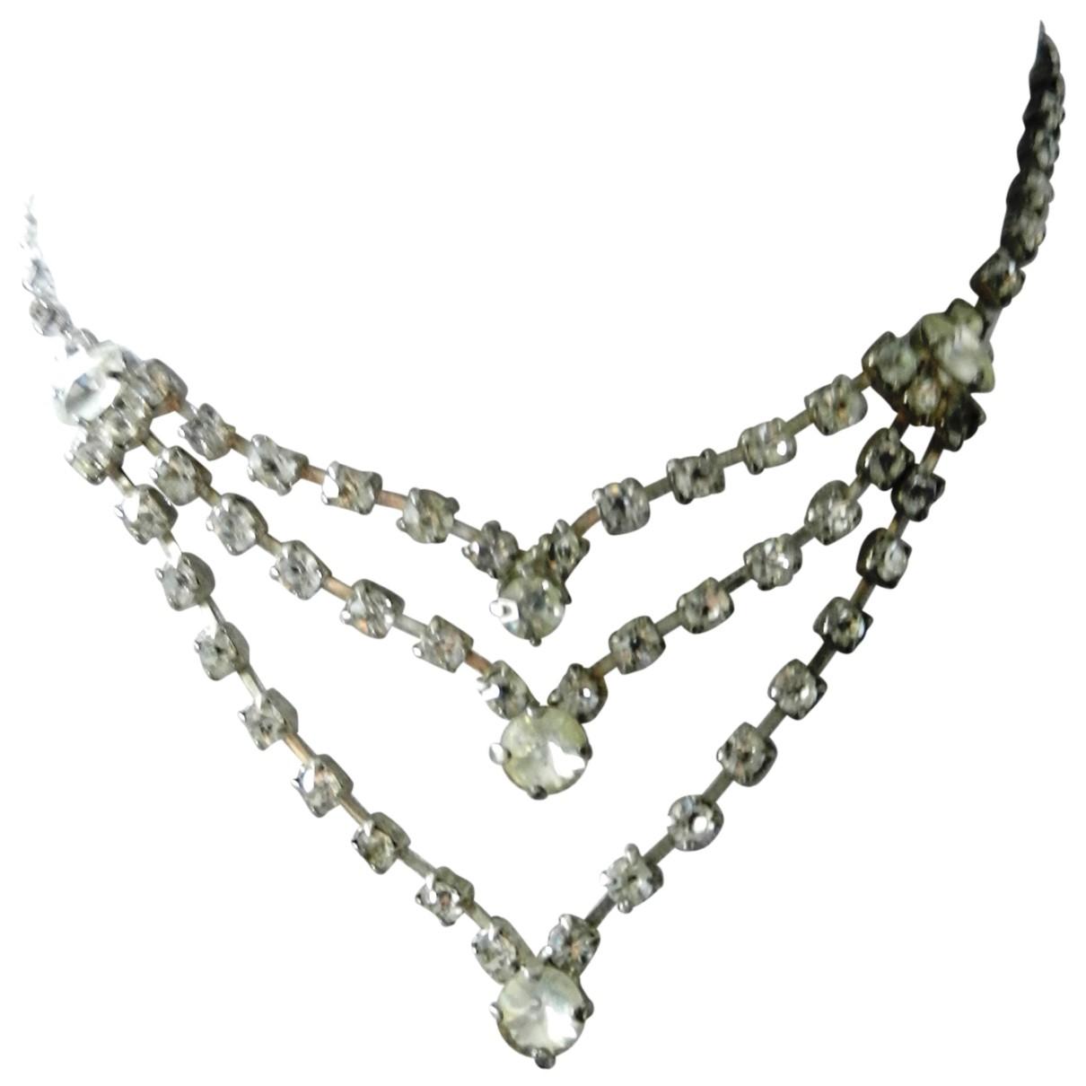 - Collier Art Deco pour femme en metal - argente