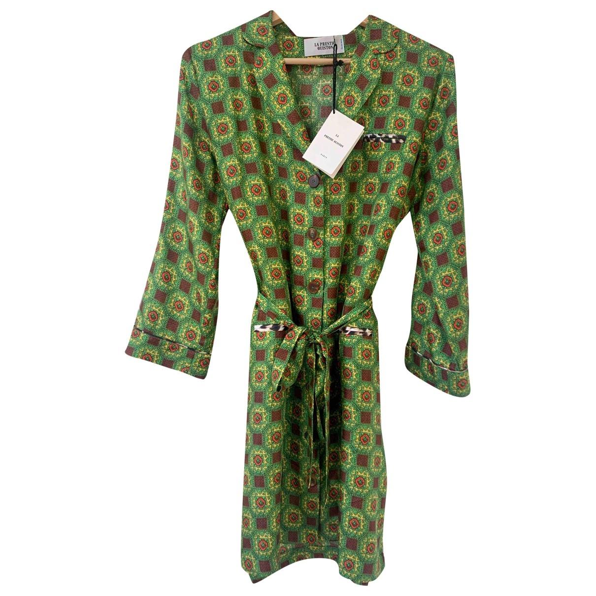 La Prestic Ouiston - Robe   pour femme en soie - vert