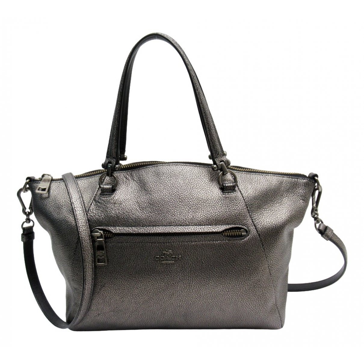 Coach \N Silver Leather handbag for Women \N