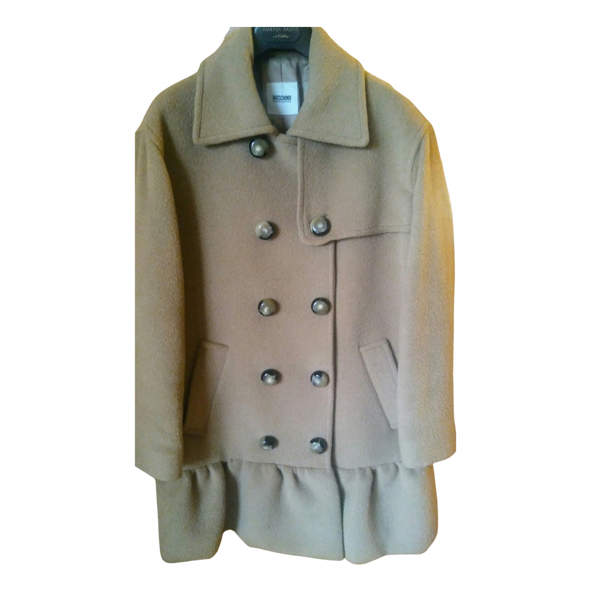 Moschino Cheap And Chic N Camel Wool coat for Women 44 IT