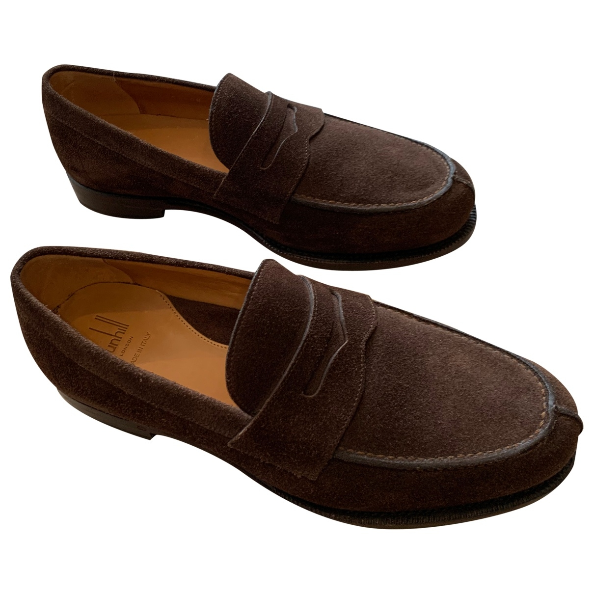 Alfred Dunhill \N Brown Suede Flats for Men 40.5 EU