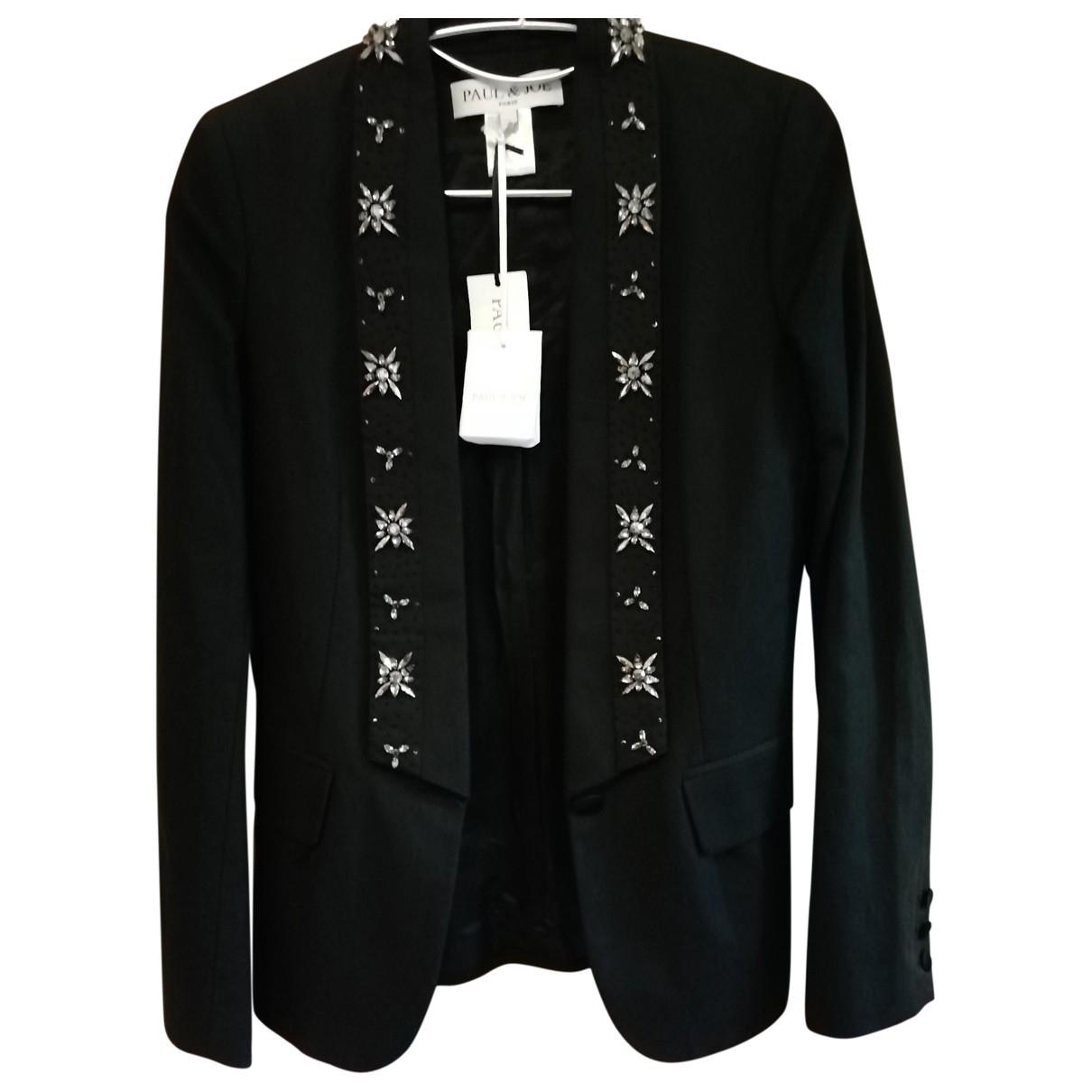 Paul & Joe \N Black Linen jacket for Women 38 FR