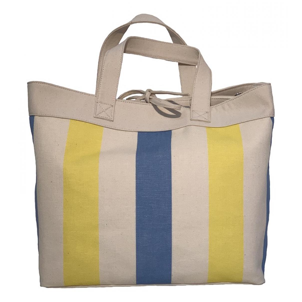 Non Signé / Unsigned \N Ecru Linen handbag for Women \N