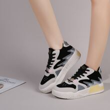 Lace-up Front Colorblock Sneakers