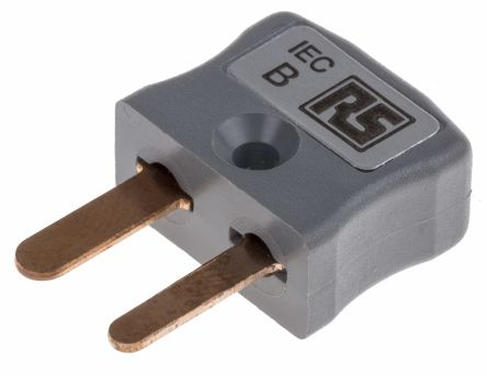 RS PRO IEC Thermocouple Connector for use with Type B Thermocouple Type B, Miniature, Grey