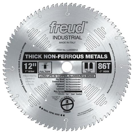 Freud 12 In. x 86T Thick Non-Ferrous Metal Blade