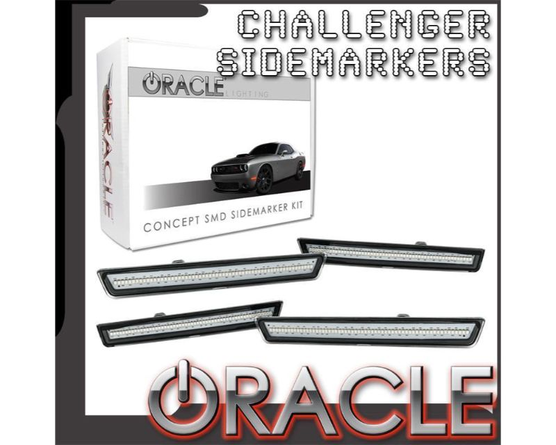 Oracle Lighting 9860-PSC-C Concept Sidemarker Set Billet Metallic - CLEAR Dodge Challenger 2015-2021