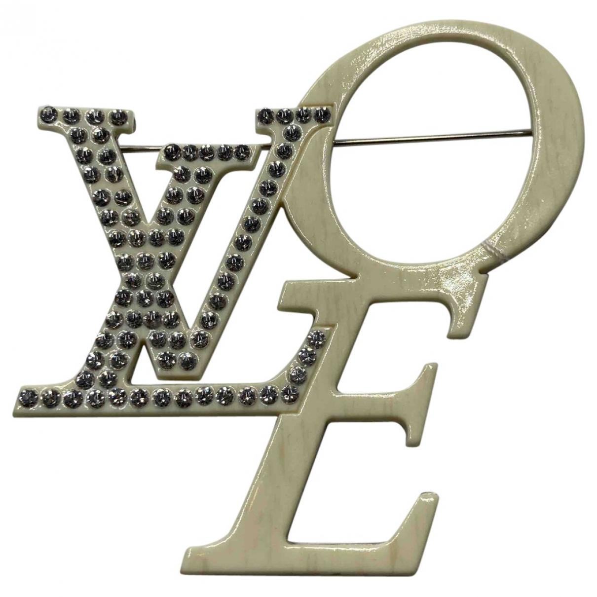 Louis Vuitton \N Beige Metal Pins & brooches for Women \N