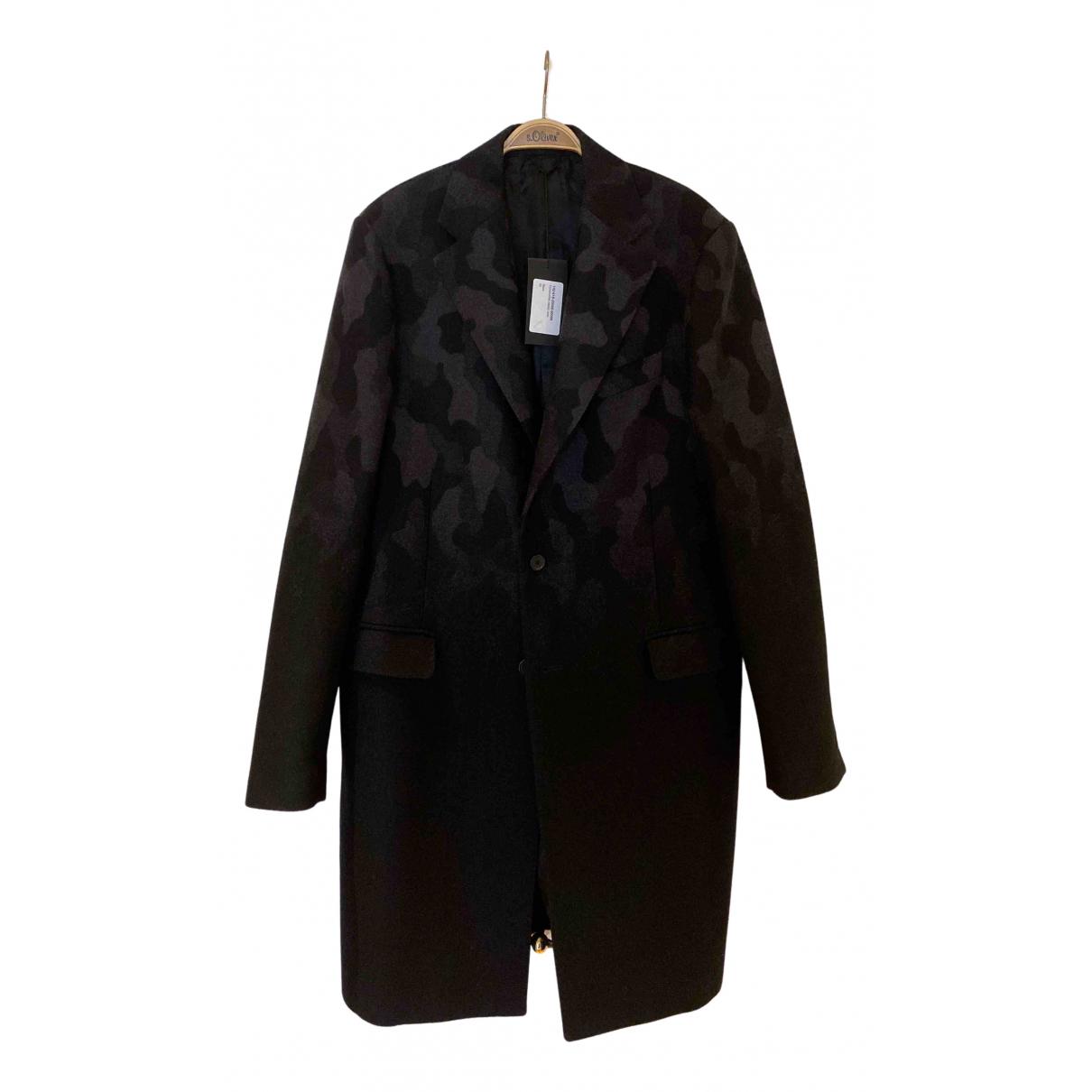 Raf Simons - Manteau   pour homme en laine - noir