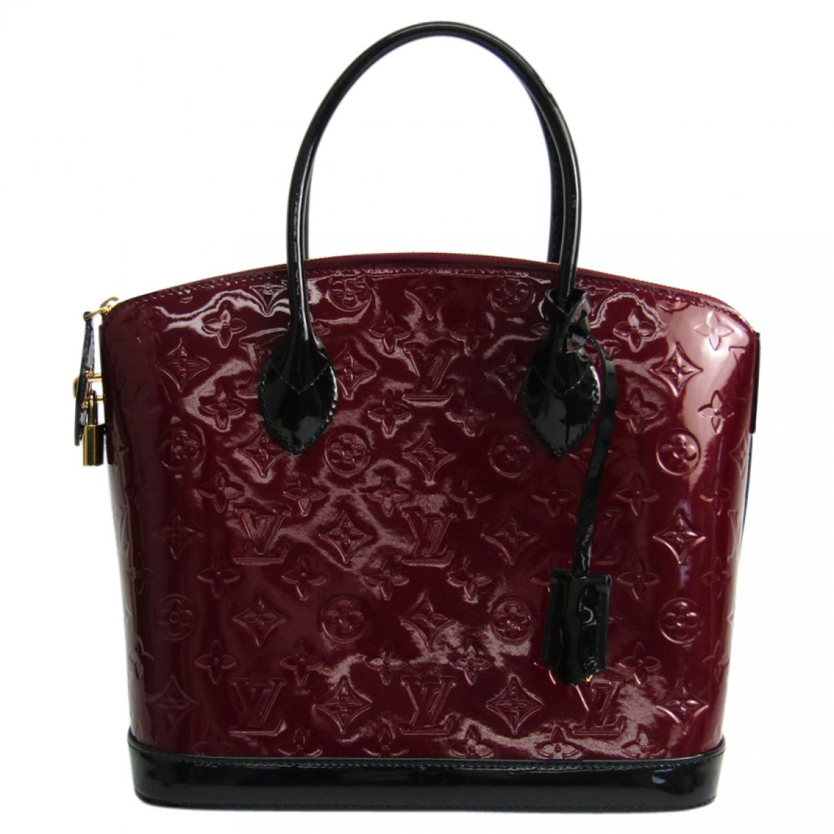 Louis Vuitton - Sac a main Lockit Vertical pour femme en cuir verni - bordeaux