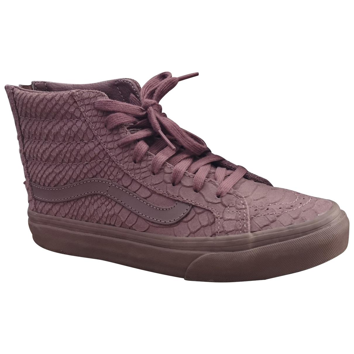 Vans \N Sneakers in  Lila Veloursleder