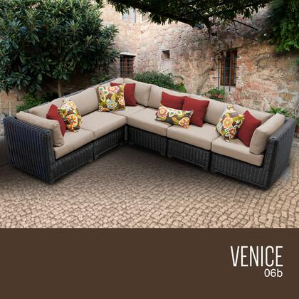 VENICE-06b Venice 6 Piece Outdoor Wicker Patio Furniture Set 06b with 1 Cover in