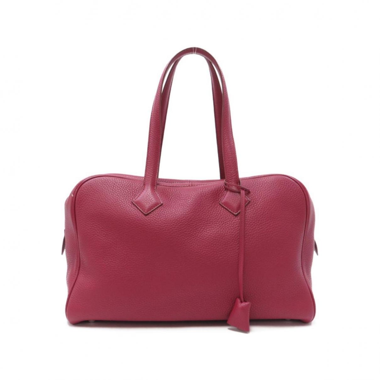 Hermès Victoria Pink Leather handbag for Women \N