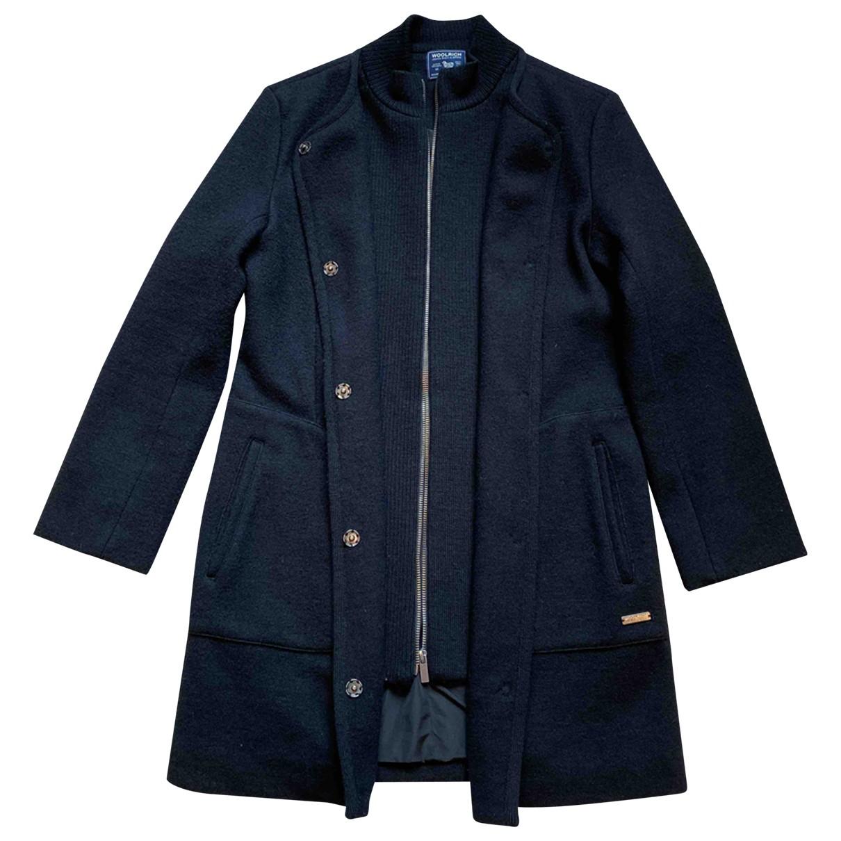 Woolrich - Manteau   pour femme en laine - noir