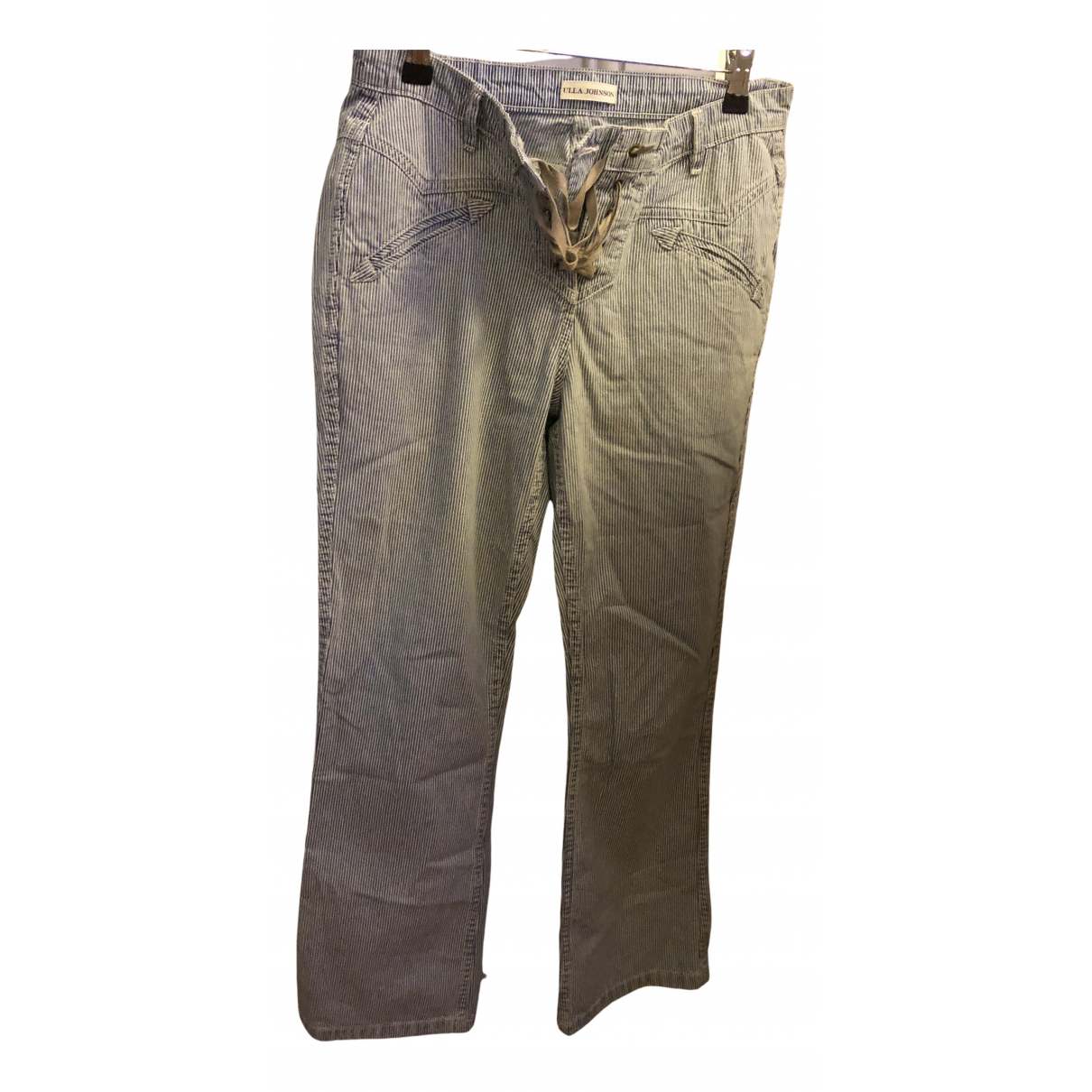 Ulla Johnson N Blue Cotton Trousers for Women 4 US