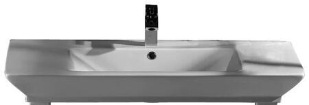 B/963WH Opulence Basin 39-1/2  White Rect. Bowl  1
