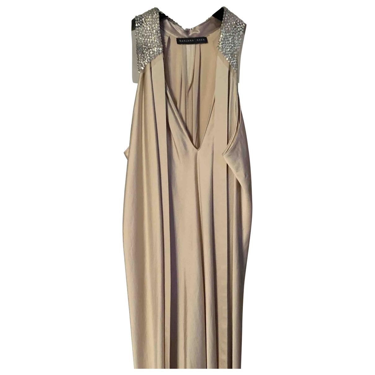 Non Signé / Unsigned \N Gold Silk dress for Women M International
