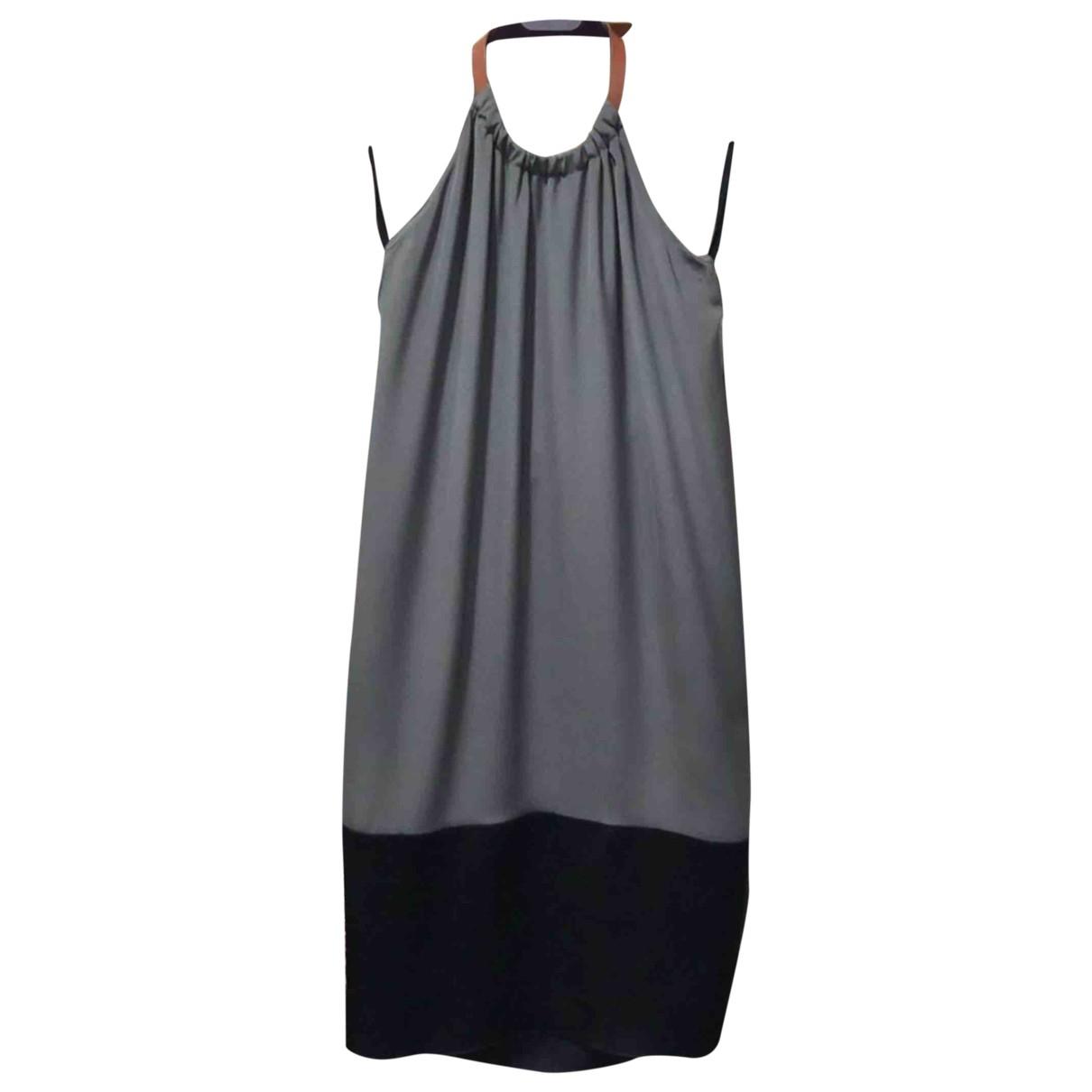 Celine \N khaki/black Silk dress for Women 34 FR