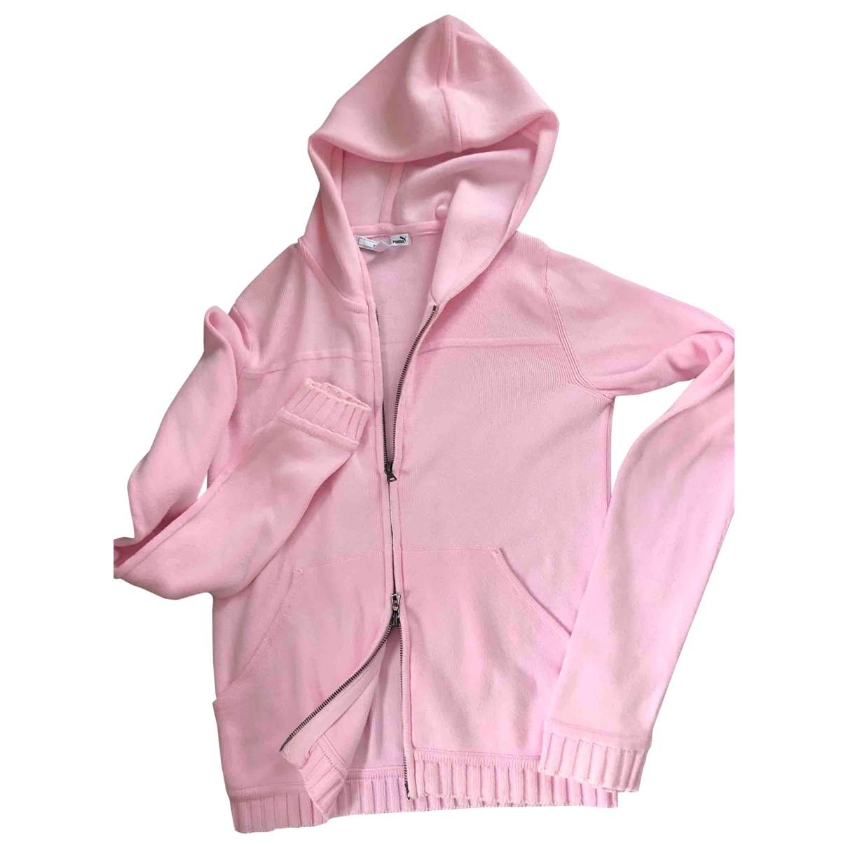 Puma - Pull   pour femme en coton - rose