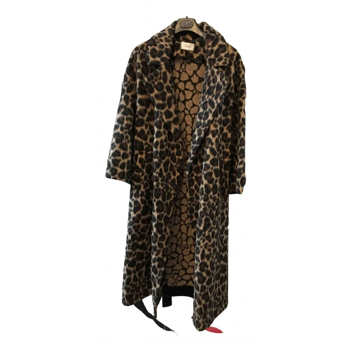 Vicolo - Manteau   pour femme en laine - camel