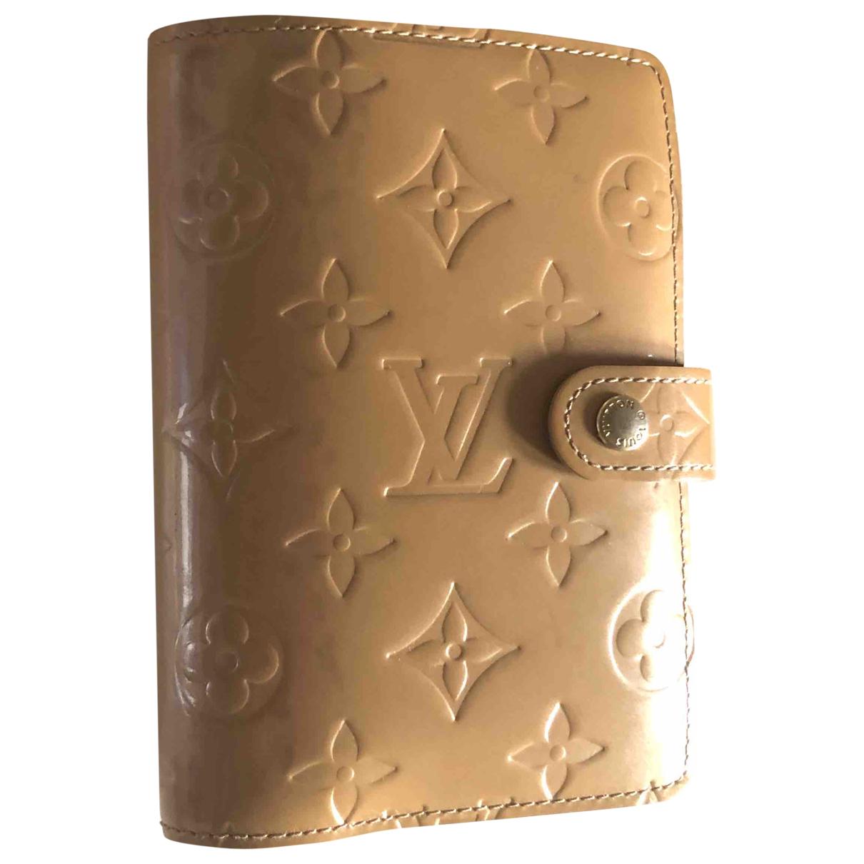 Louis Vuitton - Objets & Deco Couverture dagenda PM pour lifestyle en cuir - beige