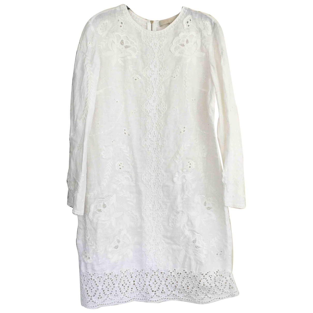 Vanessa Bruno \N White Linen dress for Women 42 FR
