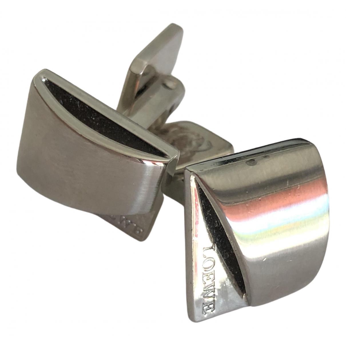 Loewe - Boutons de manchette   pour homme en acier - metallise