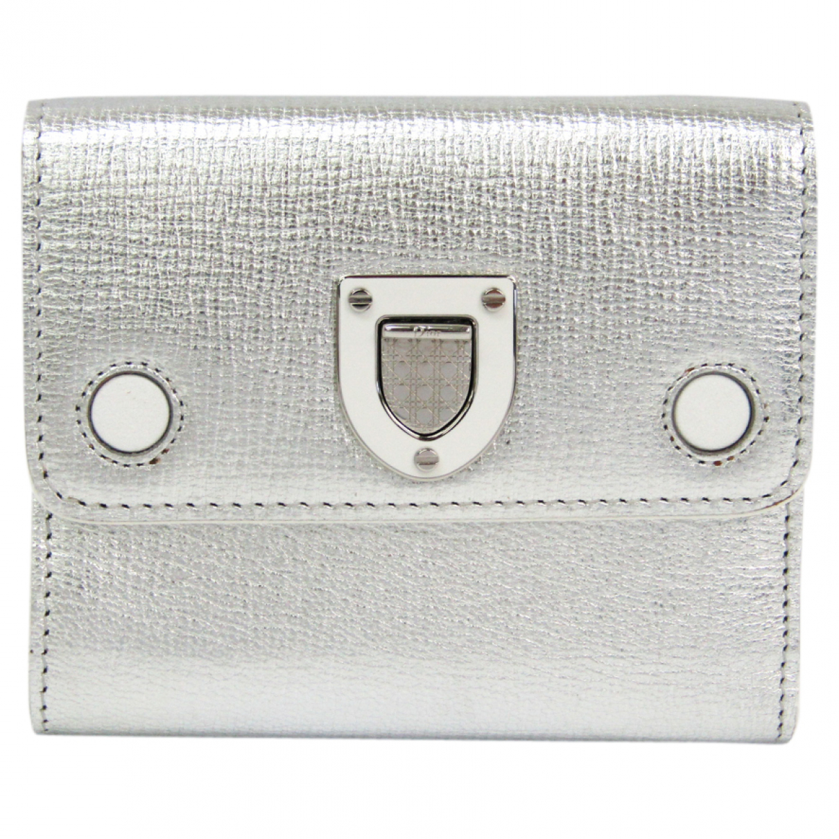 Dior N Silver Leather wallet for Women N