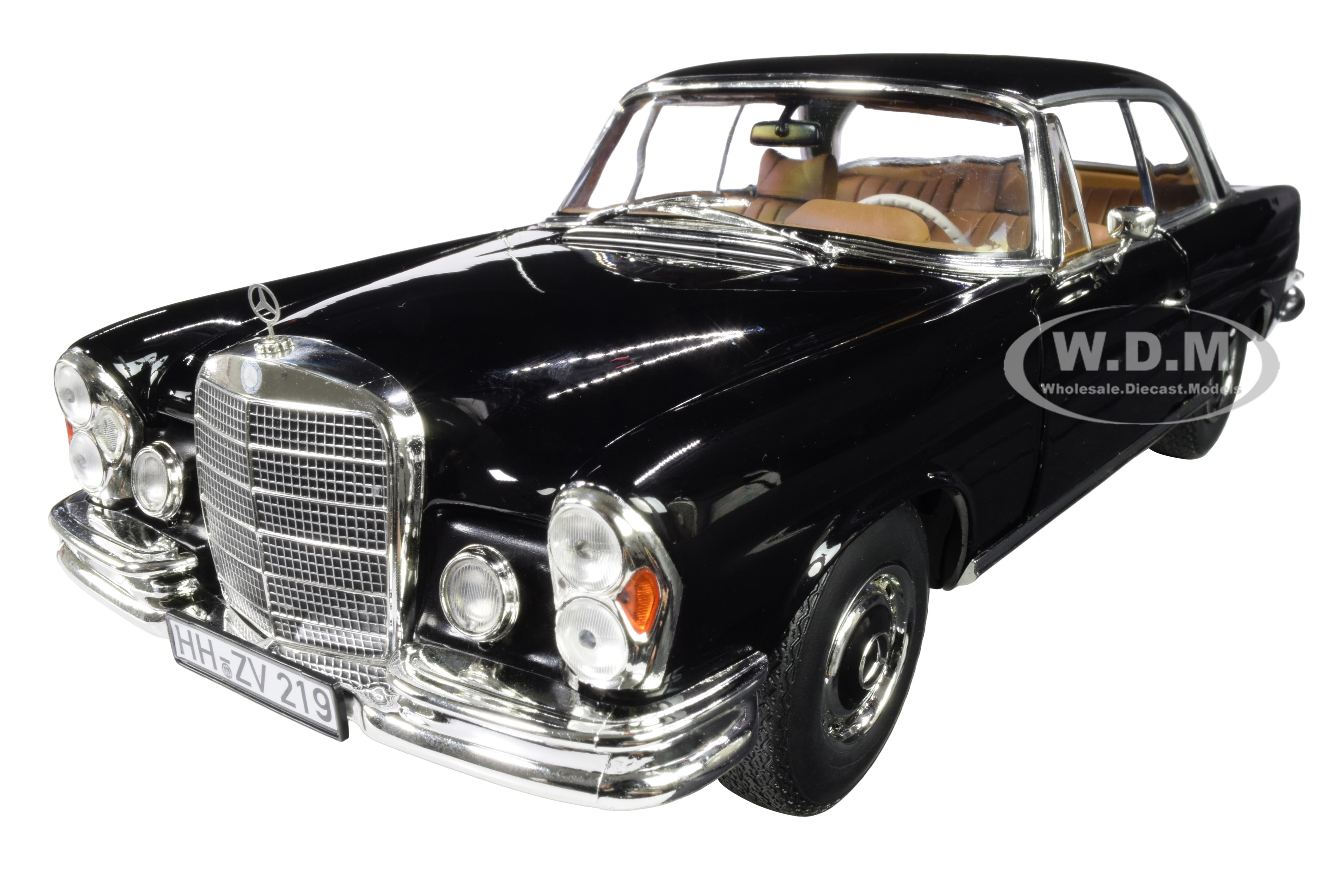 1969 Mercedes Benz 280 SE Coupe Black 1/18 Diecast Model Car by Norev