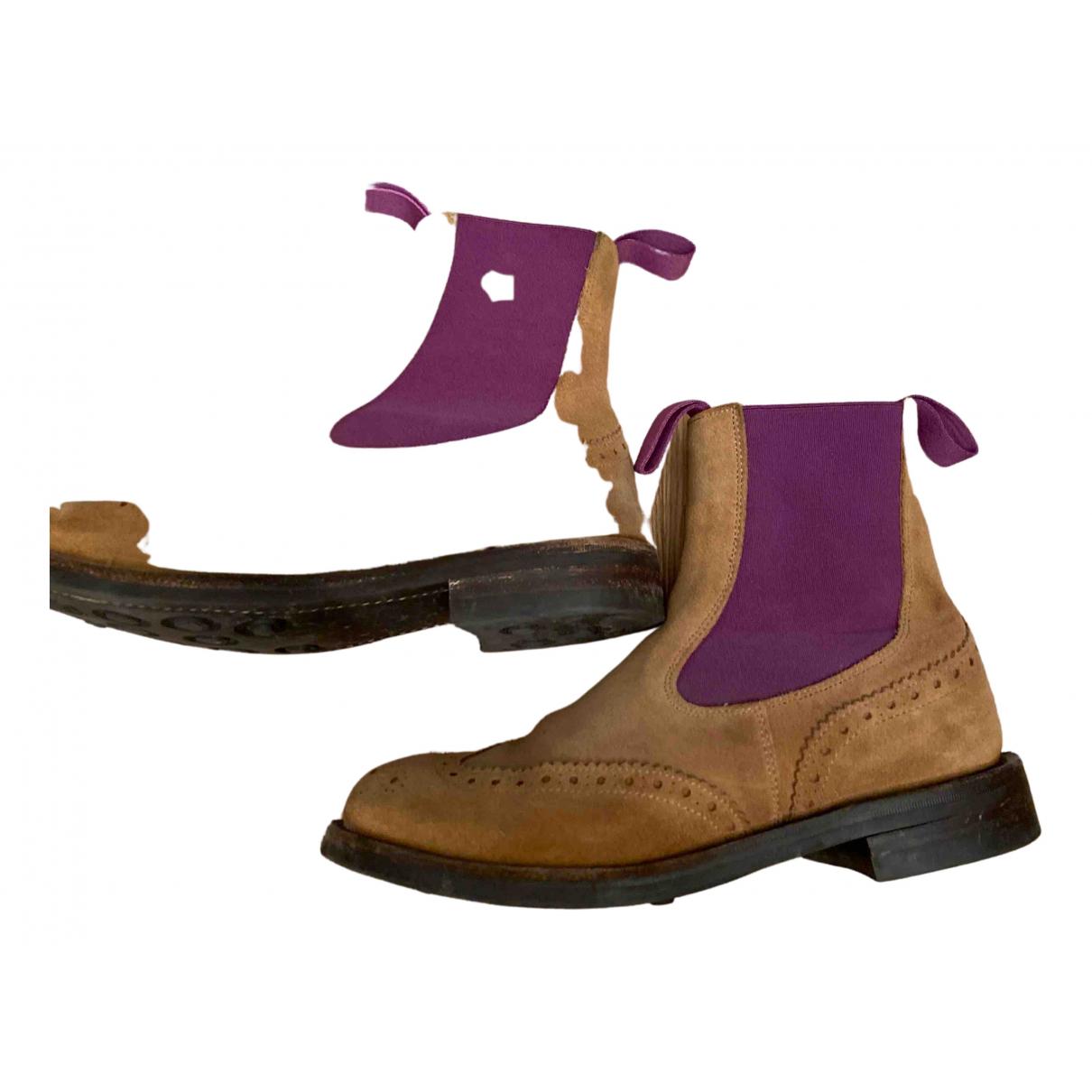 Trickers London - Boots   pour femme en suede - multicolore