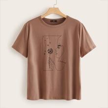 T-Shirt mit Figur Muster