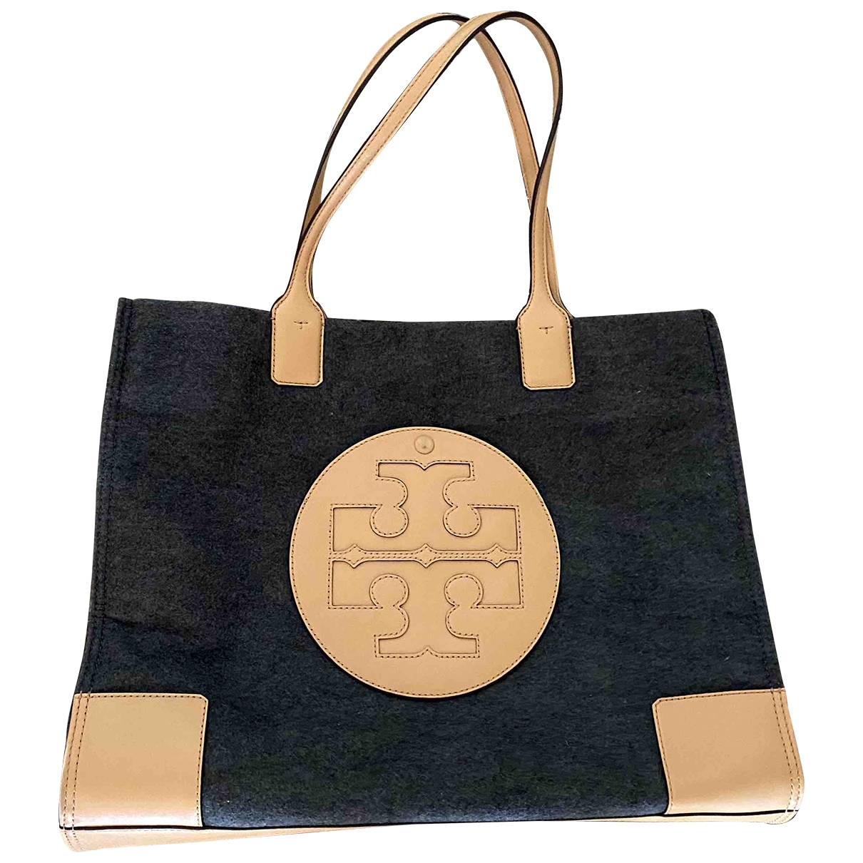 Tory Burch \N Handtasche in  Anthrazit Wolle