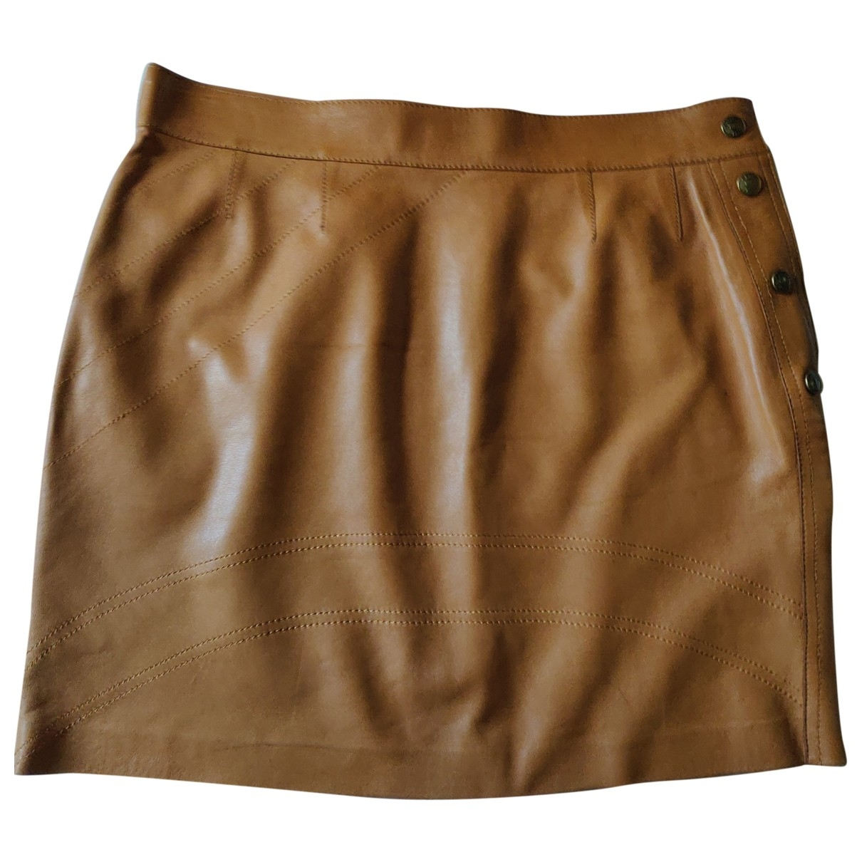 Mini falda de Cuero Dior