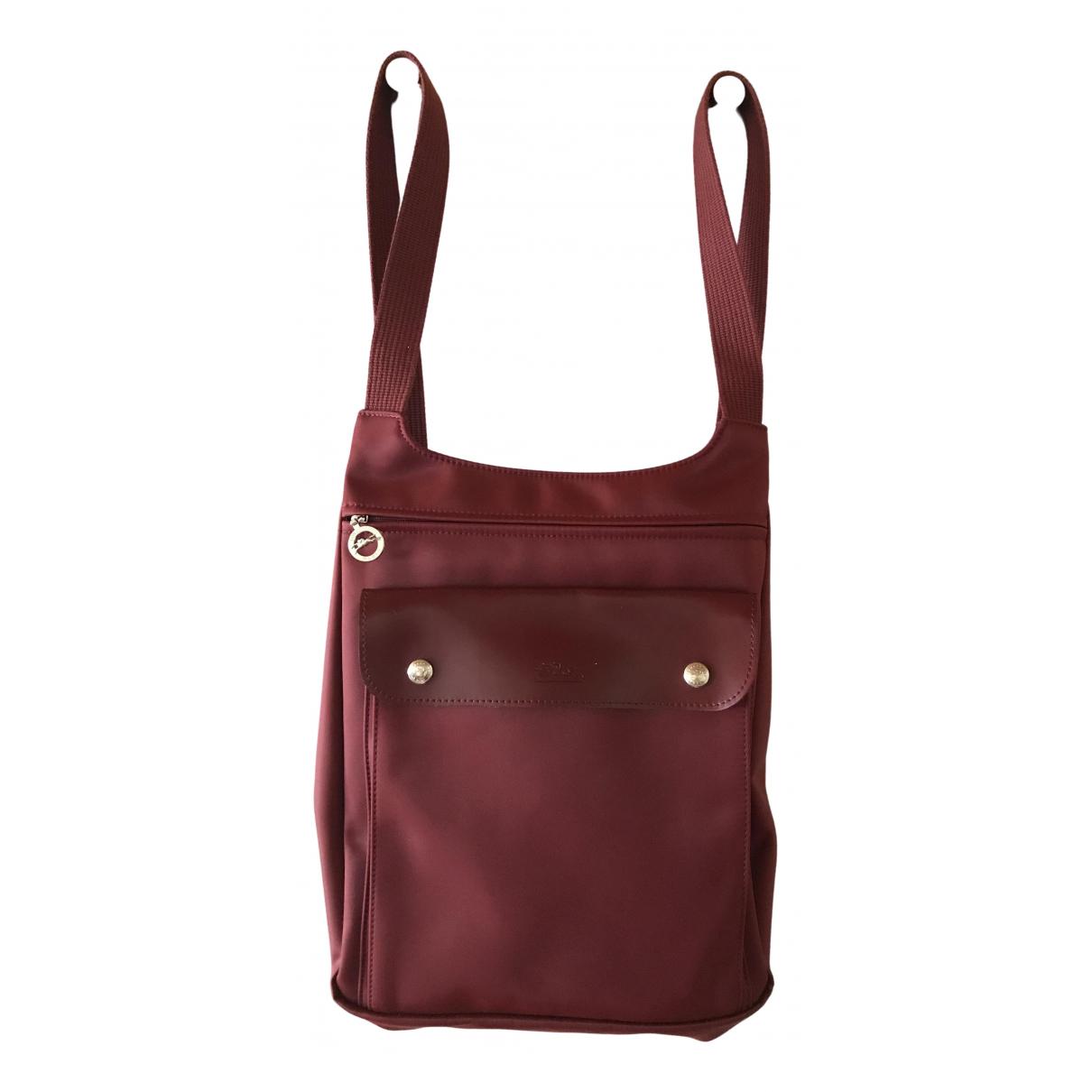 Longchamp - Sac a dos   pour femme - bordeaux