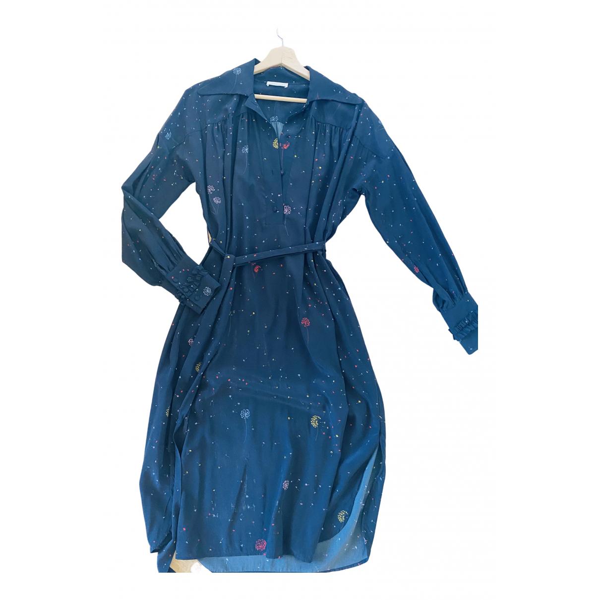 Stine Goya \N Kleid in  Schwarz Seide