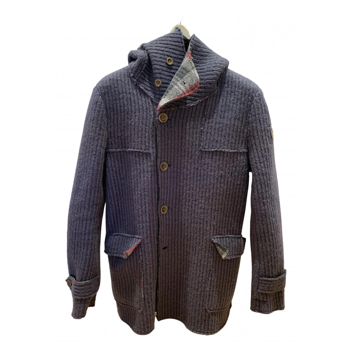 Swiss Chriss - Manteau   pour homme en laine - bleu