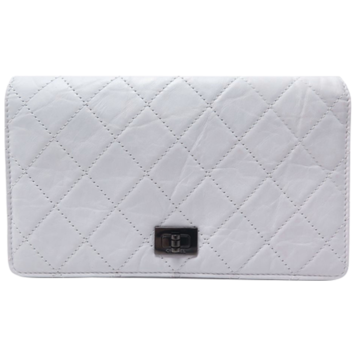 Chanel 2.55 Grey Leather wallet for Women \N